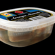 La Factoria del Mar Smoked Herring in oil tray 100gr drained