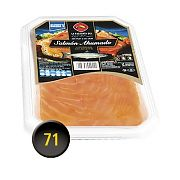 La Factoria del Mar Norwegian Smoked Salmon, slices in Sunflower oil. Tray 450 g