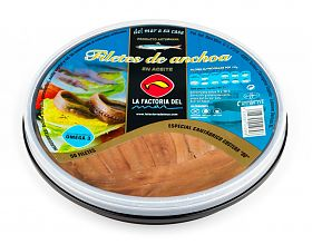 La Factoria del Mar Anchoa cantábrico Costera Aceite Vegetal de Girasol 50 filetes 00