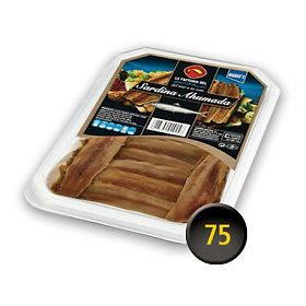 La Factoria del Mar Smoked Cantabrian Sardine, fillets in sunflower oil. Tray 450 g