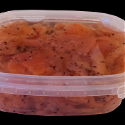 La Factoria del Mar Smoked Salmon Pieces  in peppers in oil 200 gr.esc